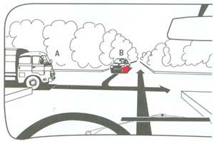 Kell-e els?bbséget adnia a kormánykerékkel ábrázolt gépkocsijával?
